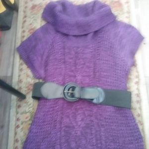 Belted sweater!